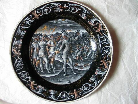Plat rond : La Victoire de Gédéon sur les Madianites
