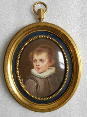 Médaillon représentant un jeune garçon