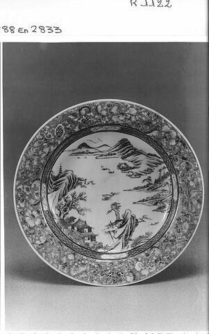 Assiette en porcelaine coquille d'oeuf