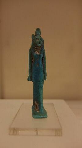 Sekhmet avec un ureus et pilier dorsal inscrit
