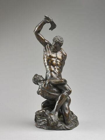 Groupe sculpté : Samson et les Philistins