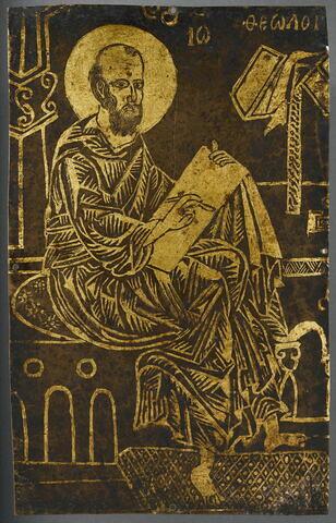 Plaque de porte d'iconostase : saint Jean le Théologien