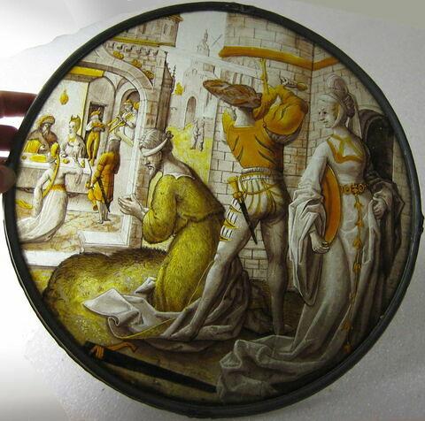 Rondel : Décollation de saint Jean Baptiste.