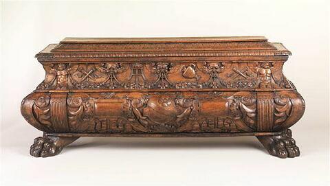 Coffre en forme de sarcophage