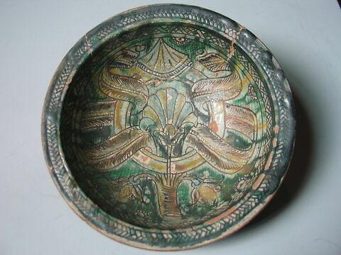 Coupe ronde : emblème d'Hercule Ier d'Este (1431-1505) dite «Diamante»