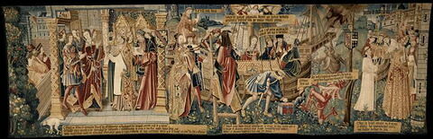 Tenture : scènes de la Légende de Saint-Etienne, d'un ensemble de deux (LAB 1126)