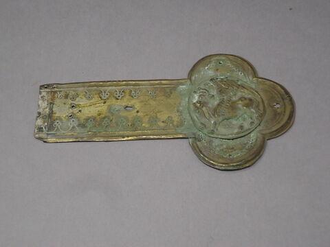Bras de croix : symbole de l'évangéliste Luc (taureau ailé)