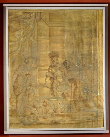 """Combat de Jahel et Sisarah (ou Jahel tuant Sisarah), de la """"Tenture de Déborah"""""""