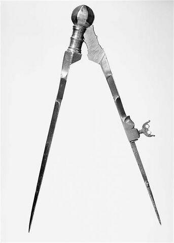 Compas, d'un ensemble formé d'un compas et d'un tire-ligne