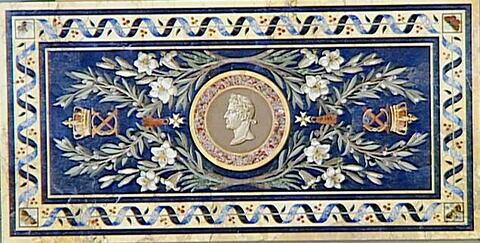 Table de mosaïques, au Charles X à l'antique