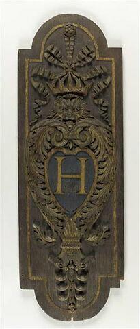 Panneau au monogramme d'Henri IV