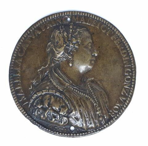 Médaille : Isabelle de Capoue, femme de Ferdinand de Gonzague