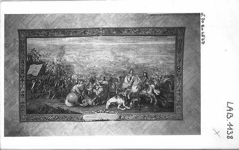 La bataille de Cassel, de la Tenture des Conquêtes de Louis XIV, aux armes et chiffre du comte de Toulouse