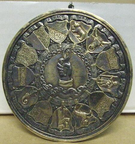 Médaille de baptême de Claude de France, fille d'Henri II Emblème de la Confédération hélvétique