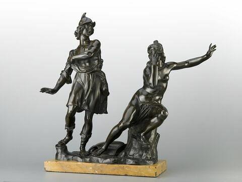 Groupe sculpté : Roger et Angélique