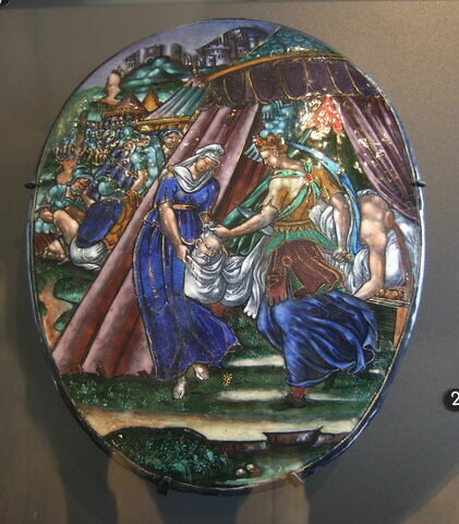 Plaque ovale : Judith