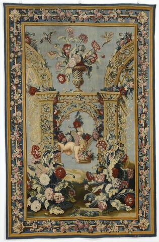 Amour portant une corbeille de fleurs, de la tenture du Triomphe de Flore