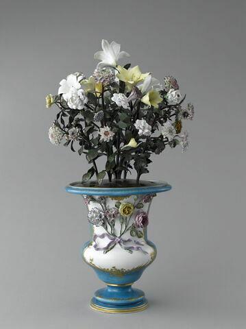 """Vase le """"Boiteux"""" à bouquet de fleurs en porcelaine"""