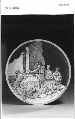 Médaillon (tondo) : épisode de La Peste de Florence