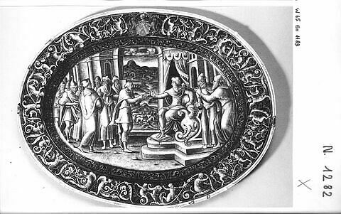 Plat ovale : Joseph reçoit l'intendance d'Egypte