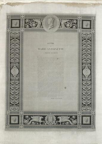 Lettre de Marie-Antoinette à Madame Elisabeth