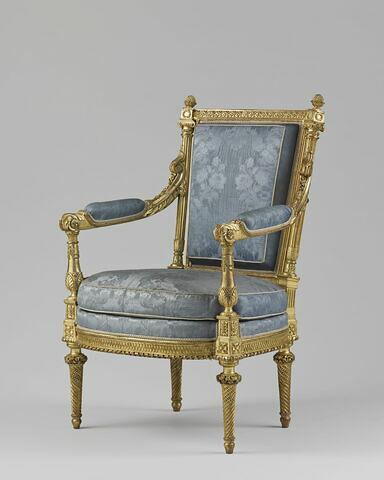 Fauteuil, d'un ensemble de trois fauteuils et trois chaises en demi cabriolet (avec OA 9452 B, C et OA 9452 D, E, F)