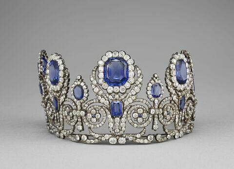 Diadème de la parure de la reine Marie-Amélie et de la Reine Hortense
