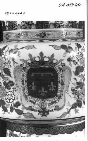 Vase cornet aux armes du duc d'Orléans