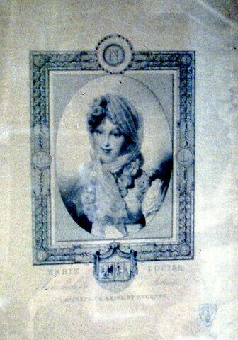 Gravure de Marie-Louise d'Autriche.