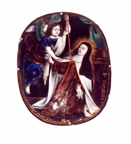 Plaque ovale : sainte Thérèse