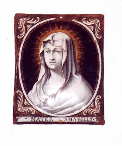 Plaque : la Vierge.