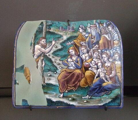 Plaque : Prédication Saint Jean-Baptiste