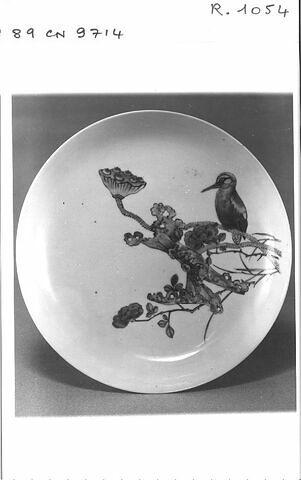 Assiette en porcelaine de Chine coquille d'oeuf
