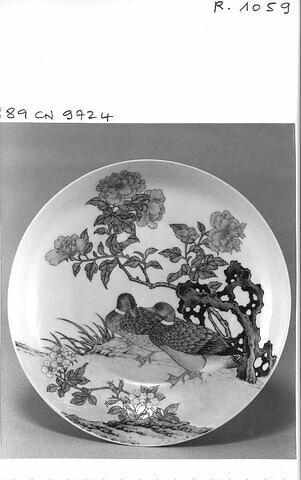 Assiette porcelaine de Chine coquille d'oeuf