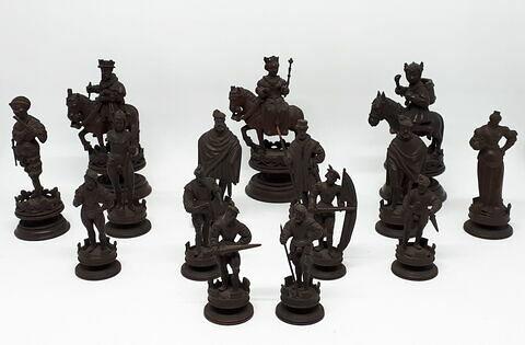 Pièces de jeu d'échiquier (ensemble de 15 pièces)