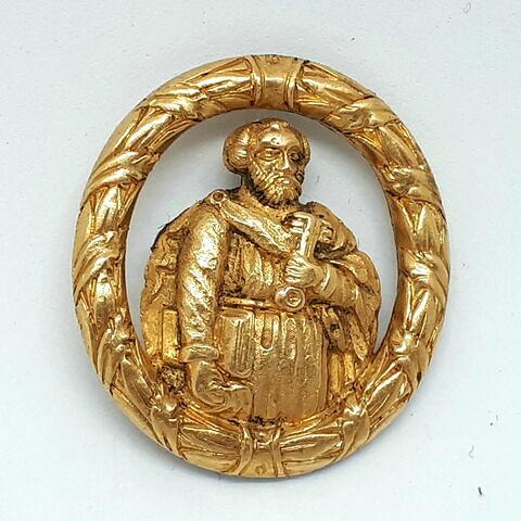 Médaillon en or : saint Pierre