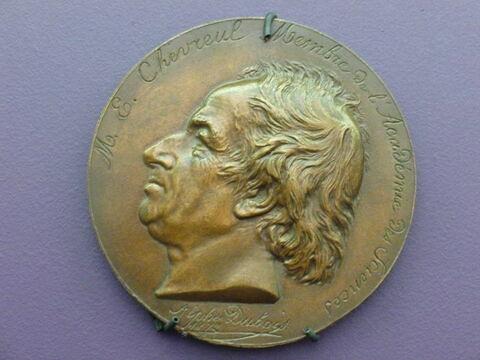 Chevreul. Médaille. Bronze (inventaire)