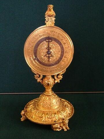 Horloge de table en forme de monstrance