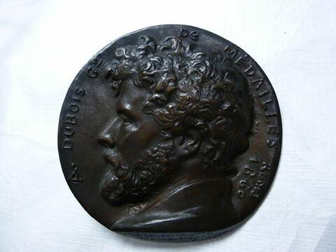 Alphée Dubois. Médaille par H. Chapu. Bronze (inventaire)