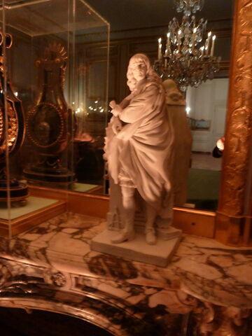 Statuette : Descartes debout.