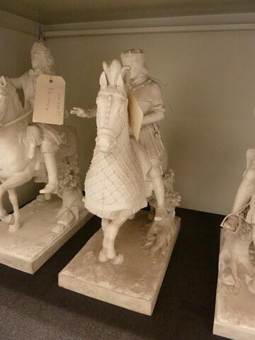 Statuette, figure équestre : Louis XII.