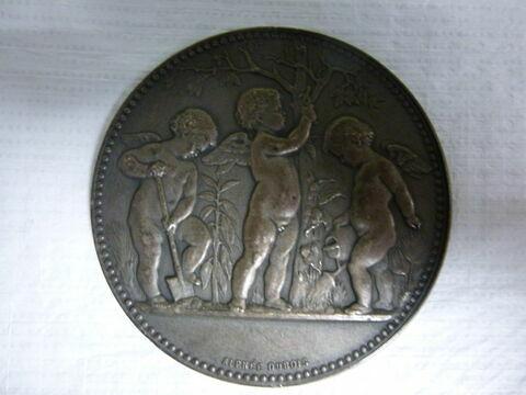 L'Horticulture. Médaille. Face et revers. Bronze argenté (inventaire)