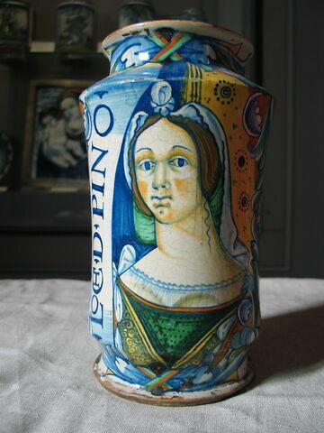 Albarello : buste féminin de face