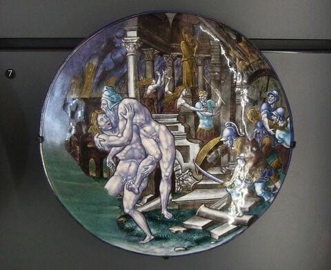 Plaque : La prise de Troie