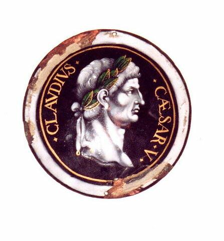 Plaque circulaire : Claude, d'un ensemble de huit (MR 2566 à 2574).