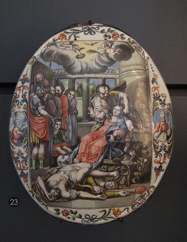 Plaque : le martyre de sainte Agathe