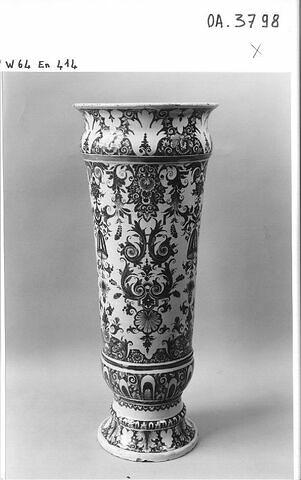 Vase cornet à col évasé