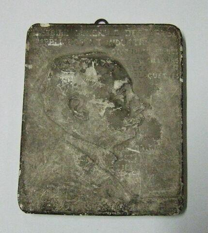 Portrait de Molinier Bas-relief en plâtre Modèle de la plaquette
