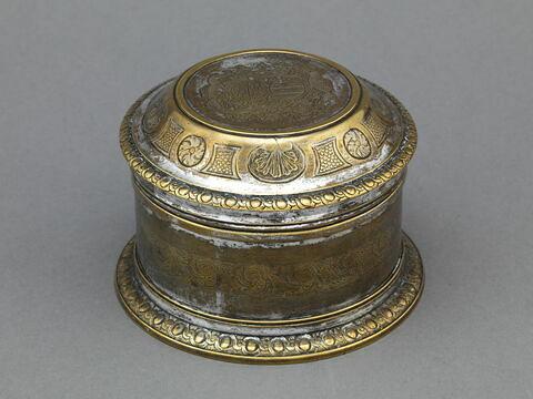 Boîte de toilette rondes en métal plaqué (d'une paire)