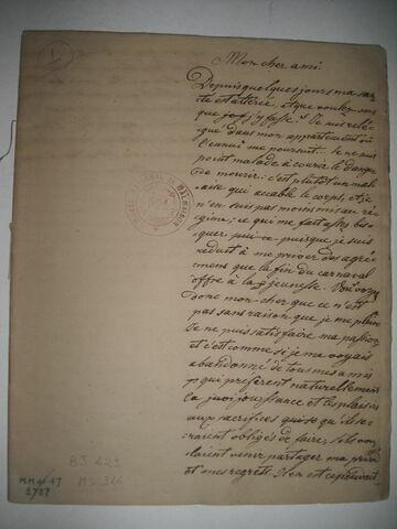 Cahier d'étude du duc de Reichstadt, d'un ensemble de trois.